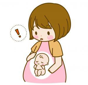 妊婦の逆子イラスト